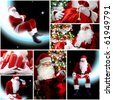 New Year theme: Santa Claus and presents - stock photo