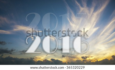 new year, 2015 to 2016 - stock photo