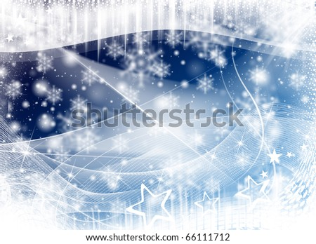 New Year Winter Illustration Abstract Background - stock photo