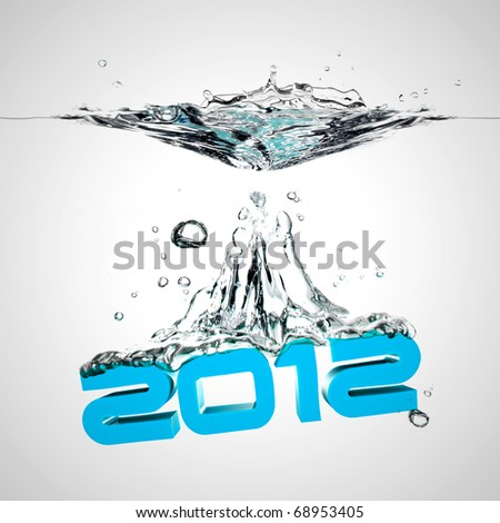 new year wish 2012 - stock photo