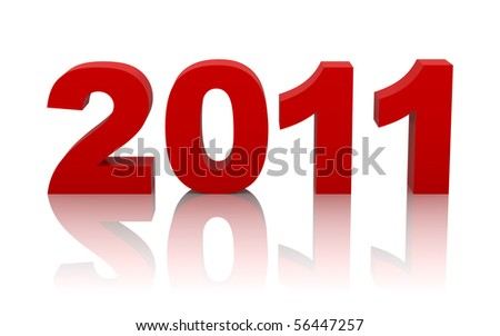 new year 2011 with clipping path