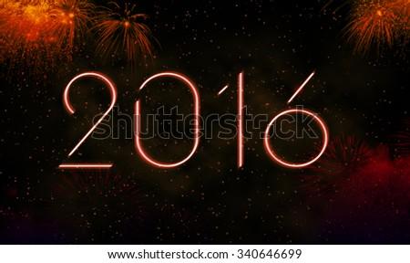 New Years 2016 - stock photo