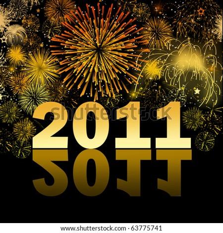 New Years 2011 - stock photo