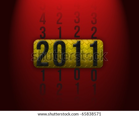 New Years 2011 card with place for your text - stock photo