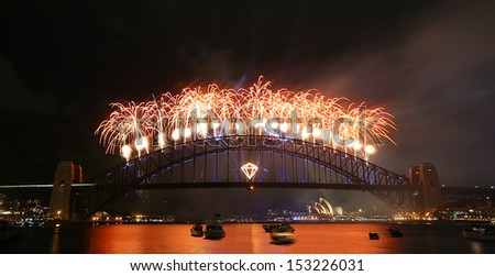 New Years celebration in Sydney Australia - stock photo