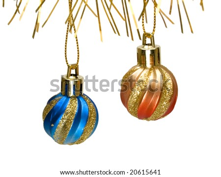 New years decoration isolated