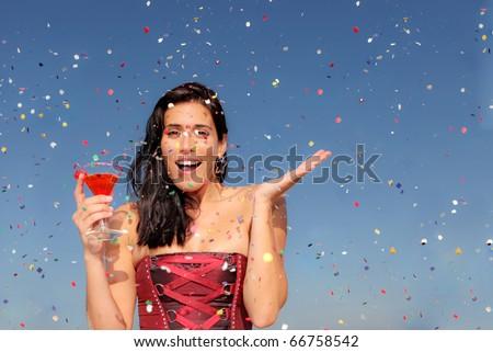 new years eve celebration - stock photo