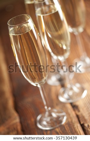 New Years Eve - glasses of champagne - stock photo