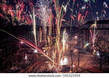 New Years Eve in Berlin, Germany          - stock photo