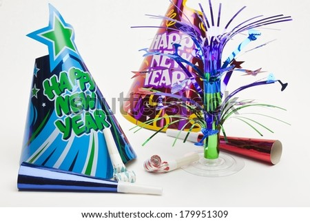 New Years Party Items - stock photo