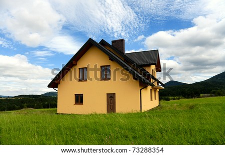 New Yellow House - stock photo