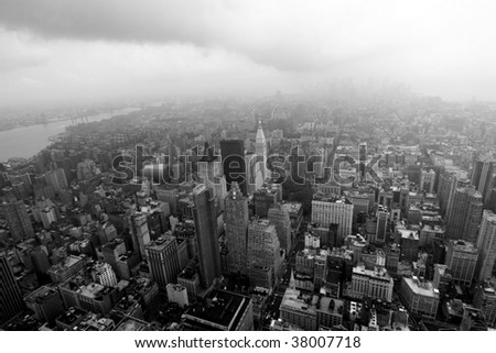 New York aerial view - stock photo