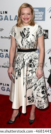 NEW YORK-APR 27: Actress Elisabeth Moss attends the 42nd Chaplin Award Gala at Alice Tully Hall, Lincoln Center on April 27, 2015 in New York City.