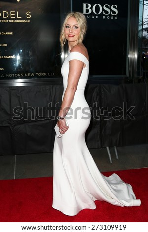 NEW YORK-APR 21: Alpine skier Lindsey Vonn attends the 2015 Time 100 Gala at Frederick P. Rose Hall, Jazz at Lincoln Center on April 21, 2015 in New York City. - stock photo