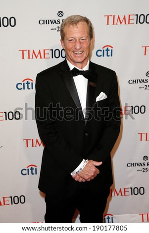 NEW YORK-APR 29: Environmentalist Tom Steyer attends the Time 100 Gala for the Most Influential People in the World at the Frederick P. Rose Hall at Lincoln Center on April 29, 2014 in New York City. - stock photo