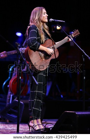 NEW YORK-APR 30: Lennon Stella performs onstage during the 'Nashville' Tour at The Beacon Theater on April 30, 2015 in New York City. - stock photo