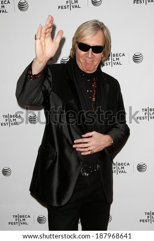 NEW YORK-APR 17: Musician Neal Smith attends the 'Super Duper Alice Cooper' premiere during the 2014 TriBeCa Film Festival at Chelsea Bow Tie Cinemas on April 17, 2014 in New York City. - stock photo