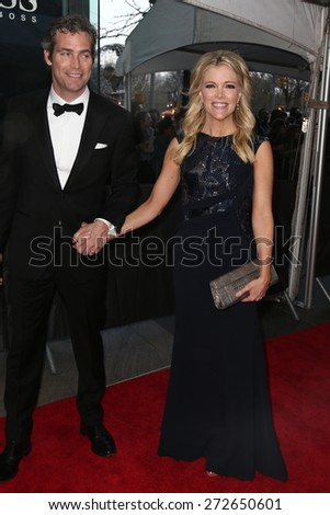 NEW YORK-APR 21: TV personality Megyn Kelly (R) and husband Douglas Brunt attend the 2015 Time 100 Gala at Frederick P. Rose Hall, Jazz at Lincoln Center on April 21, 2015 in New York City. - stock photo