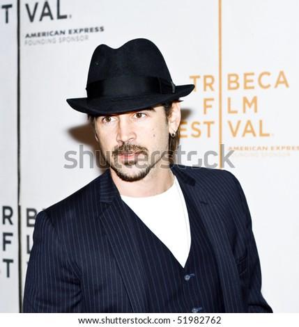 NEW YORK - APRIL 28: Actor Colin Farrell attends the premiere of 'Ondine' during the 2010 Tribeca Film Festival at the Tribeca Performing Arts Center on April 28, 2010 in NYC