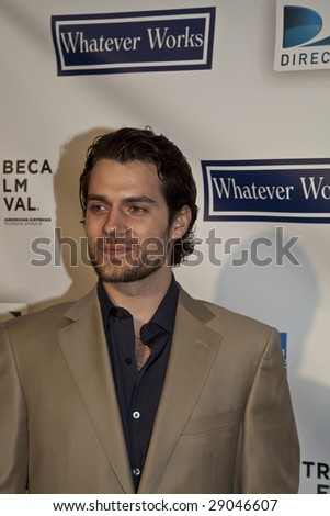 "NEW YORK - APRIL 22: Actor Henry Cavill attend the premier of ""Whatever Works"" at the Tribeca Film Festival on April 22, 2009 in New York. - stock photo"
