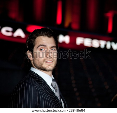 NEW YORK - APRIL 21: Actor Henry Cavill attends the Vanity Fair party during the 8th annual Tribeca Film Festival at the State Supreme Courthouse April 21, 2009 in New York. - stock photo