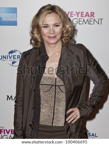 NEW YORK - APRIL 18: Actress Kim Cattrall attends premiere Five-Year Engagement at Ziegfeld Theatre during 2012 Tribeca Film Festival  on April 18, 2012 in New York CIty - stock photo