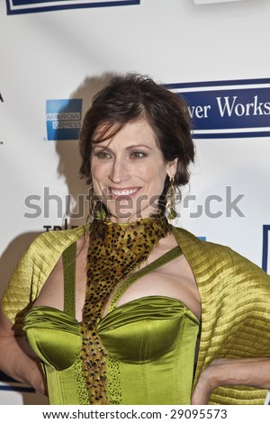 "NEW YORK - APRIL 22 Actress Nancy La Scala arrives at the premiere of Woody Allen new film 'Whatever Works"" at the Tribeca Film Festival on April 22 2009 in New York. - stock photo"