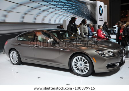 NEW YORK - APRIL 11: BMW Gran Coupe 6 Series at the 2012 New York International Auto Show running from April 6-15, 2012 in New York, NY.