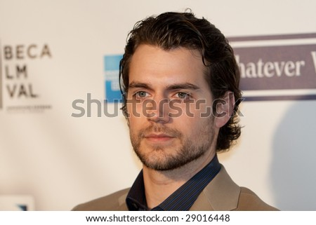 NEW YORK - APRIL 22: Henry Cavill attends the 8th Annual Tribeca Film Festival 'Whatever Works' premiere at the Ziegfeld on April 22, 2009 in New York. - stock photo