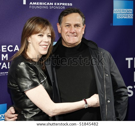 NEW YORK - APRIL 25: Jane Rosenthal and Craig Hatkoff attend the premiere of 'Letters to Juliet' during the 2010 Tribeca Film Festival on April 25, 2010 in New York City. - stock photo