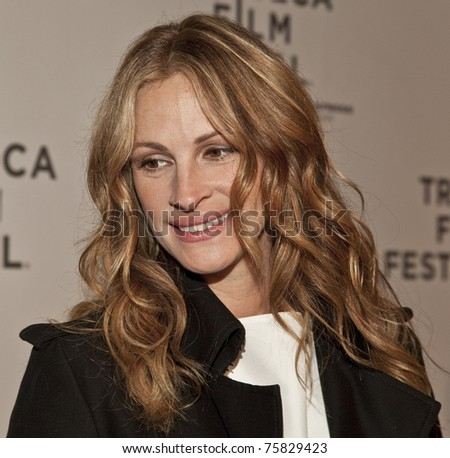 NEW YORK - APRIL 23: Julia Roberts attends premiere of 'Jesus Henry Christ' at the 2011 Tribeca Film Festival on April 23, 2011 in New York City - stock photo