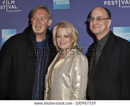 NEW YORK - APRIL 25: (R-L) Peter Gelb, Deborah Voigt, Jay Hunter Morris attend the premiere of 'Wagner's Dream' at the 2012 Tribeca Film Festival at School of Visual Arts Theater on Apr 25, 2012 in NYC