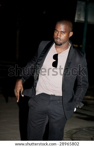 NEW YORK - APRIL 21: Rapper Kanye West attends the Vanity Fair party for the 2009 Tribeca Film Festival on April 21, 2009 in New York. - stock photo
