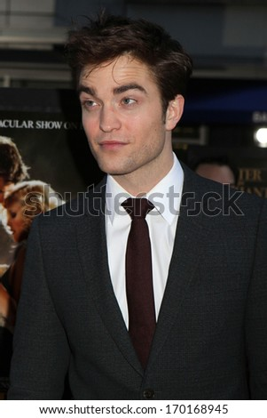 "NEW YORK - APRIL 17: Robert Pattinson attends the premiere of ""Water For Elephants"" at the Ziegfeld Theater on April 17, 2011 in New York City. - stock photo"