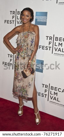 NEW YORK - APRIL 30: Supermodel Selita Ebanks attends closing night gala premiere of 'Newlyweds' at 2011 Tribeca Film Festival on April 30, 2011 in  New York City, NY.