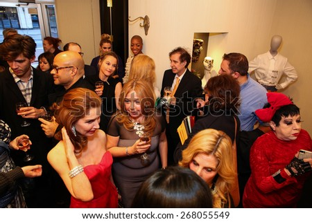 NEW YORK - APRIL 08: Victor De Souza Fall 2015 collection reception hosted by Jean Shafiroff at Madame Paulette on April 08, 2015 in New York, USA