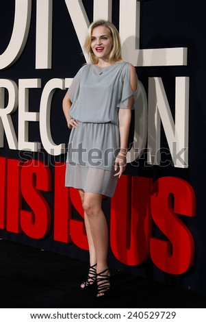 NEW YORK-AUG 26: Actress Madeline Brewer attends the New York premiere of 'One Direction: This Is Us' at the Ziegfeld Theater on August 26, 2013 in New York City. - stock photo