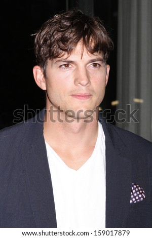 "NEW YORK - AUG 7:  Ashton Kutcher attends a screening of ""Jobs"" at the Museum of Modern Art on August 7, 2013 in New York City.  - stock photo"