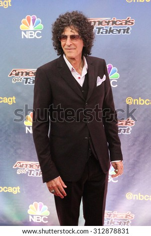 NEW YORK-AUG 11: Radio host Howard Stern attends the 'America's Got Talent' season 10 taping at Radio City Music Hall on August 11, 2015 in New York City. - stock photo