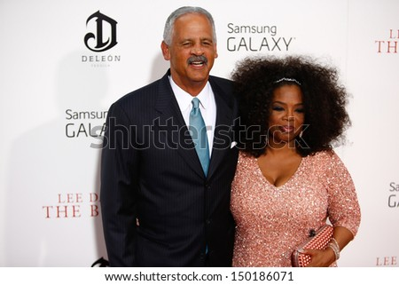 """NEW YORK-AUG 5: Stedman Graham and Oprah Winfrey attend the premiere of Lee Daniels' """"The Butler"""" at the Ziegfeld Theatre on August 5, 2013 in New York City.  - stock photo"""