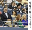 NEW YORK - AUGUST 29: Alec Baldwin and Hilaria Thomas attend 1st round match between Venus Williams & Vesna Dolonts of Russia at USTA Billie Jean King National Tennis Center on August 29, 2011 in NYC - stock photo
