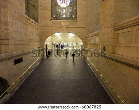 NEW YORK- AUGUST 8: New Yorkers in Grand Central Station commute to work on August 8, 2010 in New York, New York. - stock photo