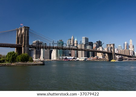 New York. Brooklyn Bridge - stock photo