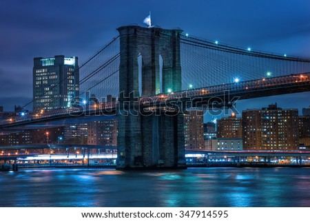 New York by Night - stock photo