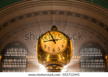 NEW YORK - CIRCA OCTOBER 2016: The famous clock of Grand Central Station main hall, New York City, USA