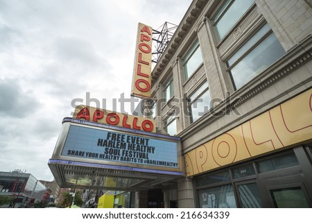 NEW YORK - CIRCA SEPTEMBER 2014: Apollo Theater in Harlem