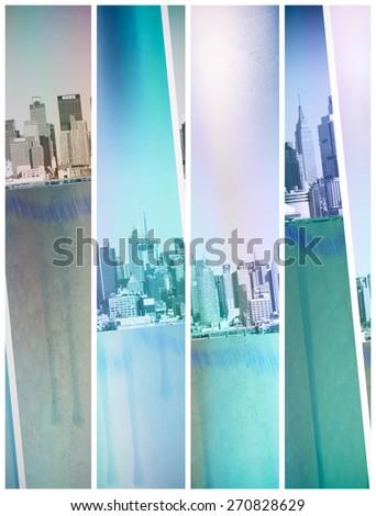 New York City Abstract - stock photo