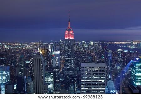 New York City aerial view - stock photo