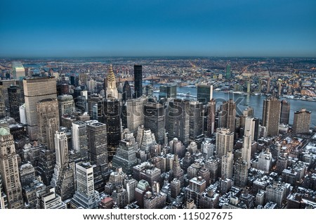 New York City aerial view, United States of America - stock photo