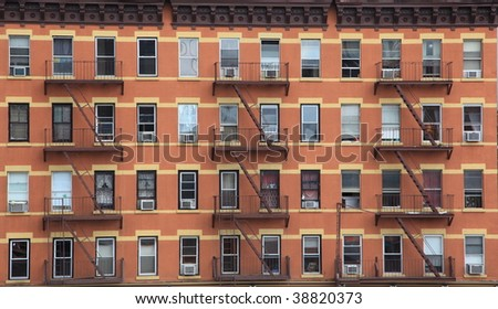 New York City apartment building - stock photo